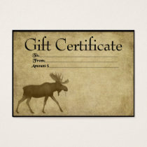 Moose On The Loose- Prim Gift Certificate Cards
