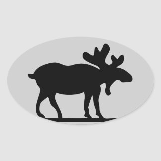 Moose on the Loose Oval Sticker