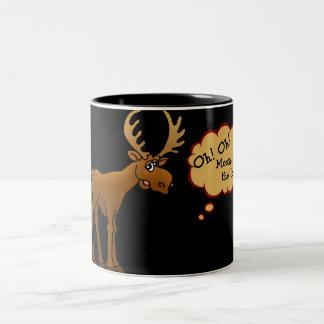 Moose on the Loose Two-Tone Coffee Mug