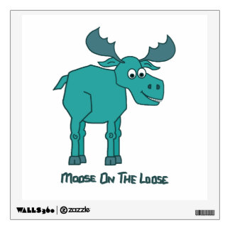 Moose on the Loose Room Decal