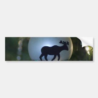 Moose Ornament Bumper Sticker