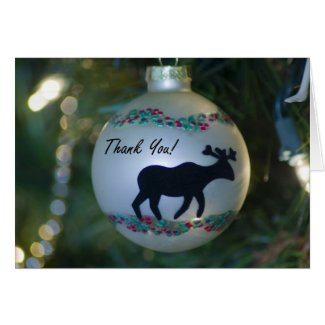 Moose Ornament Thank You Card