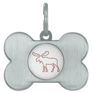Moose Outline Pet Tag