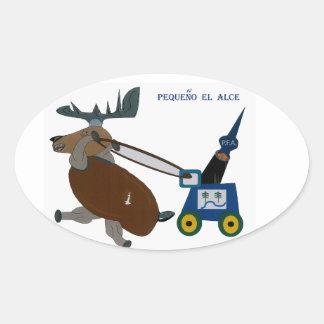 Moose Oval Sticker