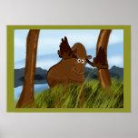 Moose Painting Print