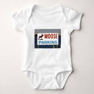 Moose Parking Sign Infant's Clothing Infant Creeper