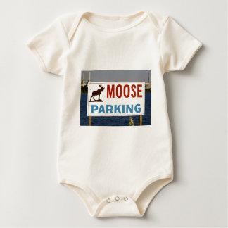Moose Parking Sign Infant's Creeper