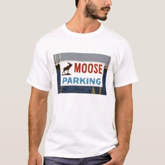 Moose Parking Sign Man's T-Shirt