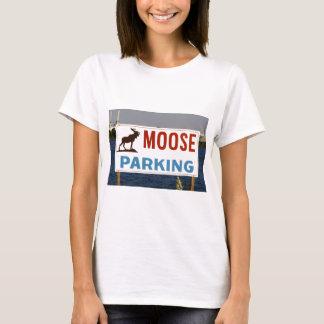 Moose Parking Sign Woman's T-Shirt