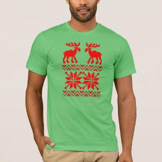 Moose Pattern Christmas Sweater