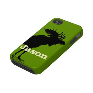 Moose Personalized iPhone Iphone 4 Tough Cover