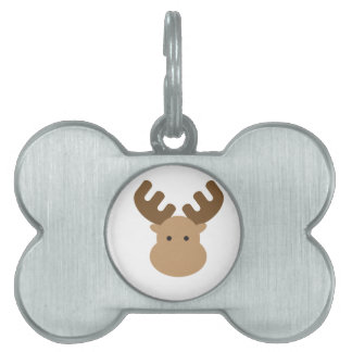 Moose Pet Name Tag