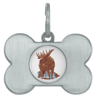 Moose Pet Tag