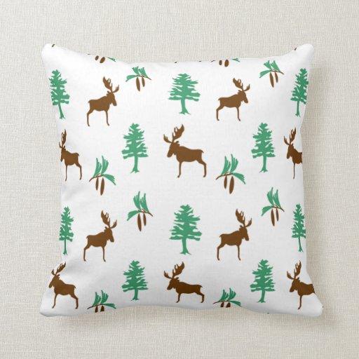 Kohls Moose Throw Pillow : Moose & Pine Throw Pillow Zazzle