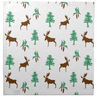 Moose & Pine Tree Napkin