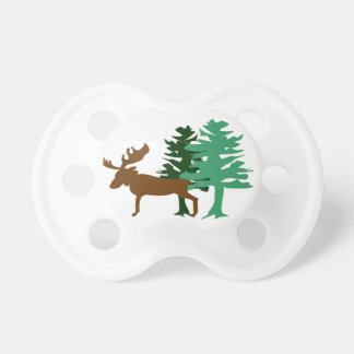Moose & Pine Tree Pacifier