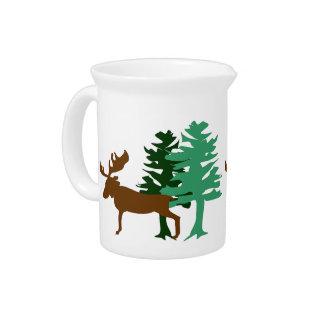 Moose & Pine Tree Pitcher