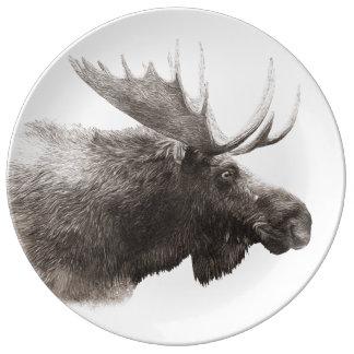 Moose Porcelain Plate