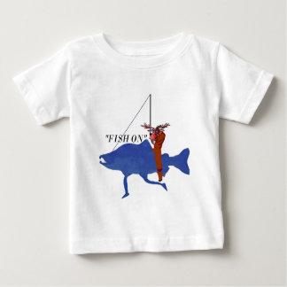 Moose Riding Salmon Baby T-Shirt