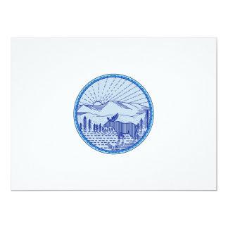 Moose River Flat Mountains Sunburst Circle Mono Li Card