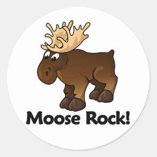 Moose Rock! Classic Round Sticker