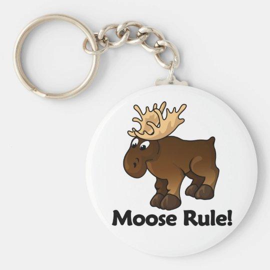 Moose Rule! Keychain