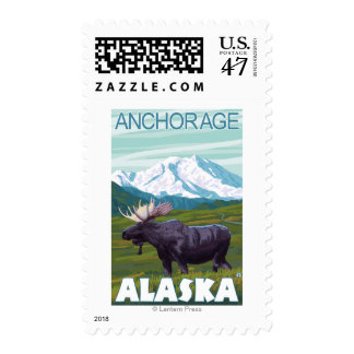 Moose Scene - Anchorage, Alaska Postage