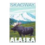 Moose Scene - Skagway, Alaska Canvas Prints
