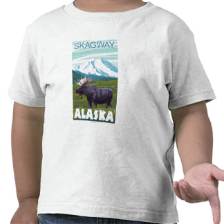 Moose Scene - Skagway Alaska T Shirts