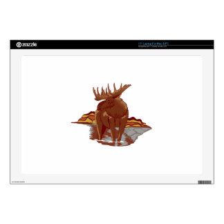 "Moose Scene 17"" Laptop Decal"