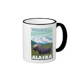 Moose Scene - Wrangell, Alaska Mugs