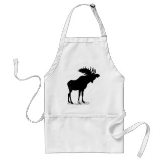 Moose Silhouette Adult Apron
