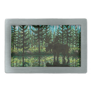 Moose Silhouette Belt Buckle
