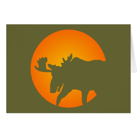 Moose Silhouette Card