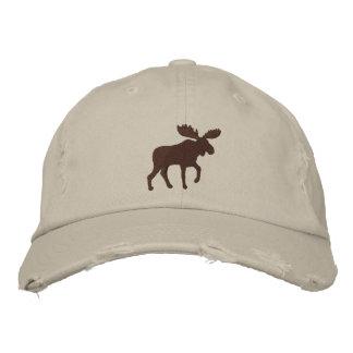 Moose Silhouette (Color Customizable) Baseball Cap