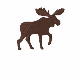 Moose Silhouette (Color Customizable) Embroidered Polo Shirt