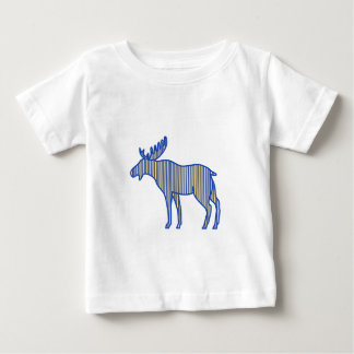 Moose Silhouette Drawing Baby T-Shirt