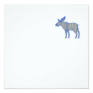 Moose Silhouette Drawing Card