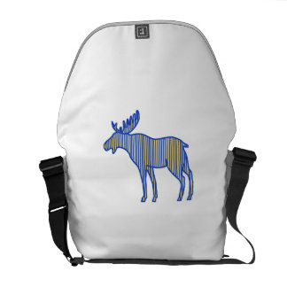 Moose Silhouette Drawing Courier Bag