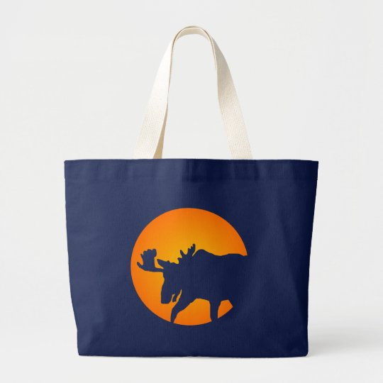 Moose Silhouette Large Tote Bag
