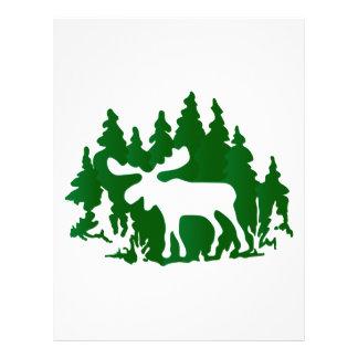 Moose Silhouette Letterhead