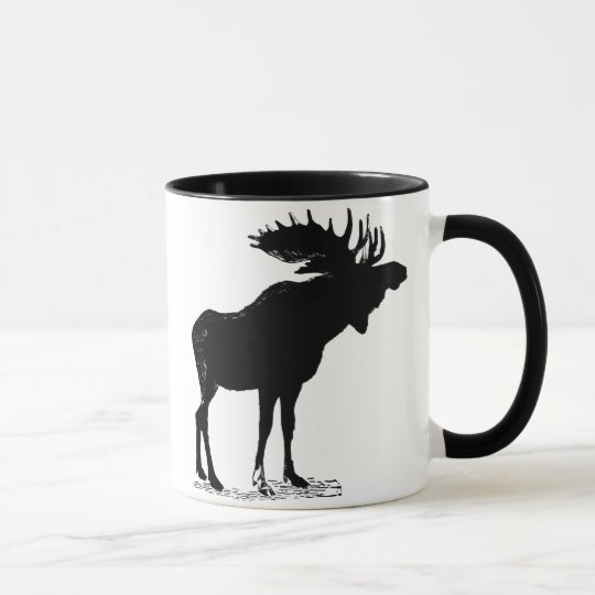 Moose Silhouette Mug