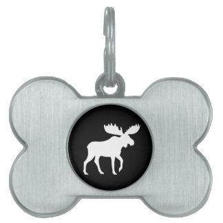 Moose Silhouette Pet Name Tag