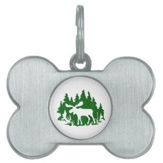 Moose Silhouette Pet Tag