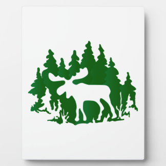 Moose Silhouette Plaque