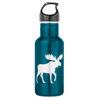 Moose Silhouette Stainless Steel Water Bottle
