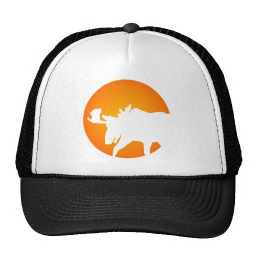 Moose Silhouette Trucker Hats