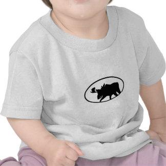 Moose Silhouette T Shirt