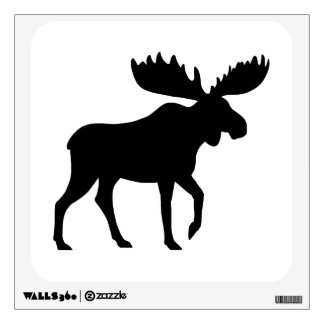 Moose Silhouette Wall Decal