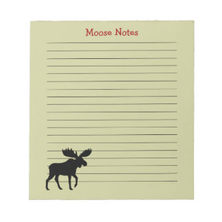Moose Silhouette with Custom Text Note Pad